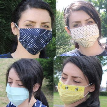 NEW Face Mask Handmade UK 100% Cotton Washable unisex Reusable Breathable